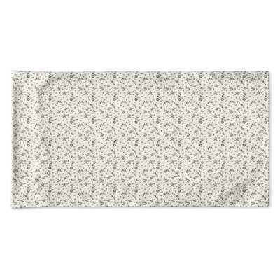 Elgin Floral Pillow Case Size: King, Color: Ivory