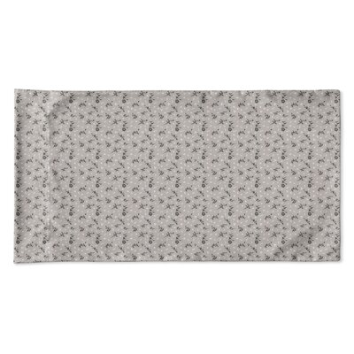 Elgin Floral Pillow Case Size: King, Color: Taupe