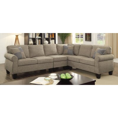 Himrod Modular Sectional Upholstery: Light Gray