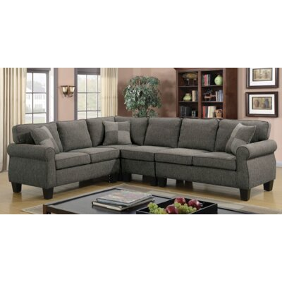 Himrod Modular Sectional Upholstery: Dark Gray