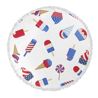 American Sweet Tooth Round Beach Towel