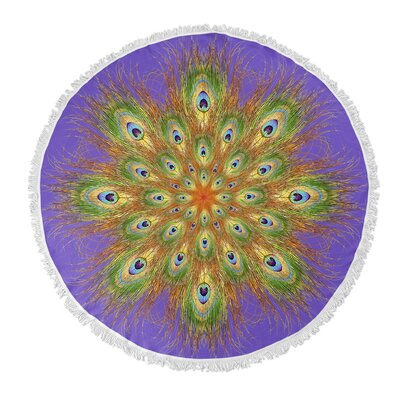 Round Beach Towel Color: Purple