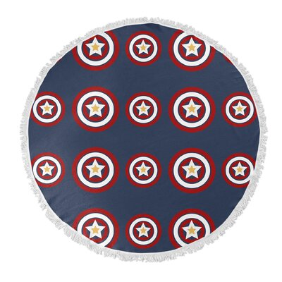 American Dream Round Beach Towel