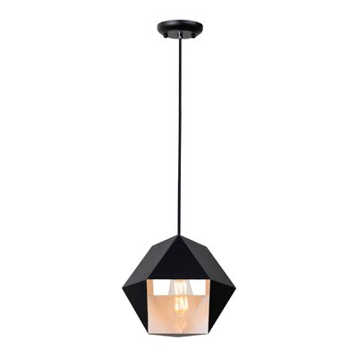 Garman 1-Light Geometric Pendant Size: 9 H x 10.38 W x 10.38 D