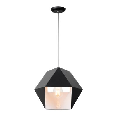 Garman 1-Light Geometric Pendant Size: 12.68 H x 14.31 W x 14.31 D