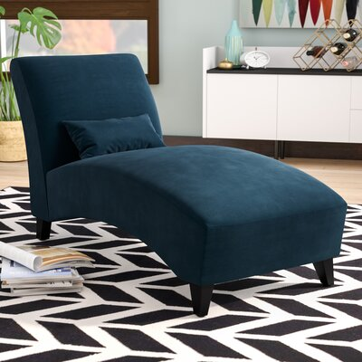 Dante Chaise Lounge Upholstery: Blue