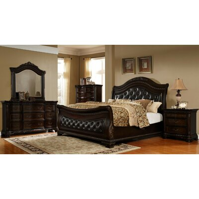 Damaris 5 Piece Sleigh Bedroom Set Size: California King