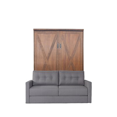 Lafountain Queen Upholstered Murphy Bed Color: Metro Gray