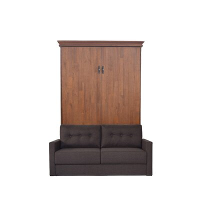 Cashman Queen Upholstered Murphy Bed Color: Metro Gray