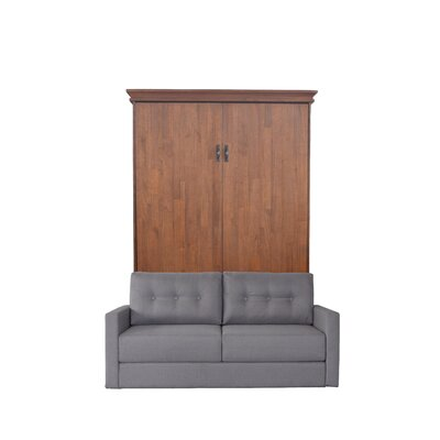 Cashman Queen Upholstered Murphy Bed Color: Millwork Brown