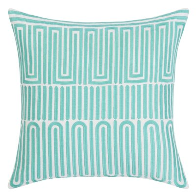 Racket Club Geometric Throw Pillow Color: Turquoise