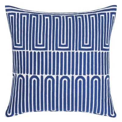 Racket Club Geometric Throw Pillow Color: Blue