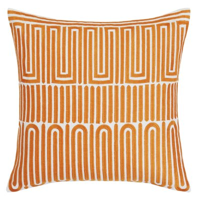 Racket Club Geometric Throw Pillow Color: Orange