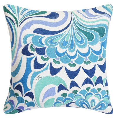 Avalon Lotus Embroidery Throw Pillow
