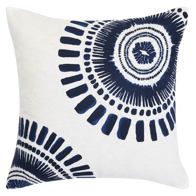 Samba De Roda Circle Embroidery Throw Pillow