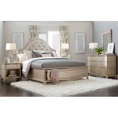 Stanmore Upholstered Panel Bed Size: Queen