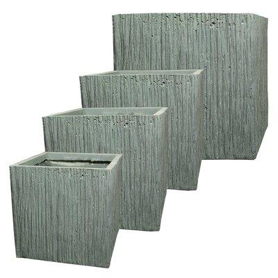 Cube 4-Piece Fibre Clay Planter Box 66E730E547F04973BBDCC22508903487