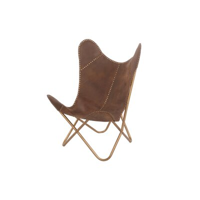 Maultsby Cocoa Riveted Lounge Chair