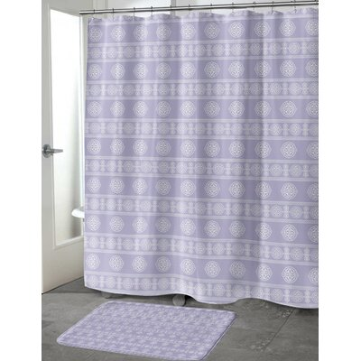 Puleo Shower Curtain Color: Lavender, Size: 70 H x 72 W