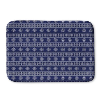 Pierro Memory Foam Bath Rug Size: 24 L x 17 W, Color: Navy
