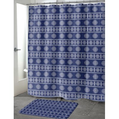 Puleo Shower Curtain Color: Navy, Size: 70 H x 90 W