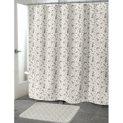 Tomberlin Shower Curtain Color: Ivory, Size: 70 H x 72 W