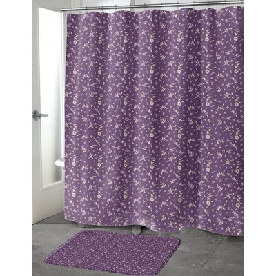 Tomberlin Shower Curtain Color: Purple, Size: 70 H x 72 W