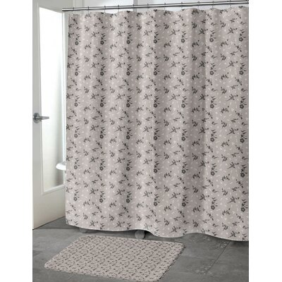 Tomberlin Shower Curtain Color: Taupe, Size: 70 H x 90 W