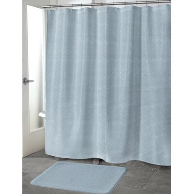 Heidenreich Shower Curtain Color: Blue, Size: 70 H x 72 W