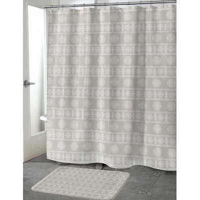 Puleo Shower Curtain Color: Taupe, Size: 70 H x 72 W