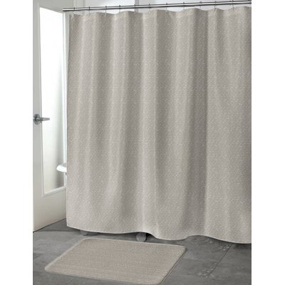 Heidenreich Shower Curtain Color: Taupe, Size: 70 H x 90 W