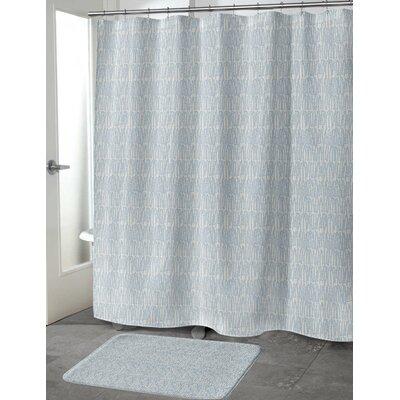 Ebert Shower Curtain Color: Blue, Size: 70 H x 90 W