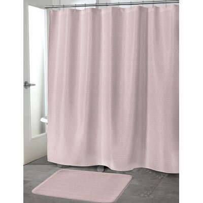 Heidenreich Shower Curtain Color: Pink, Size: 70 H x 90 W