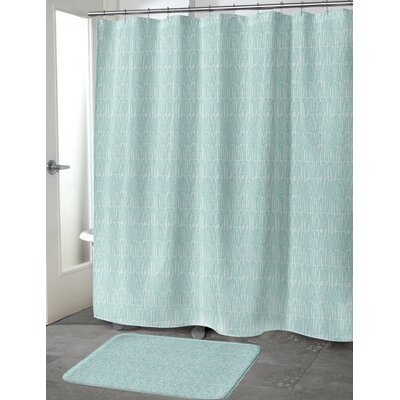 Ebert Shower Curtain Color: Green, Size: 70 H x 90 W