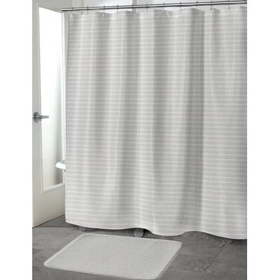 Heider Shower Curtain Color: Beige, Size: 70 H x 90 W