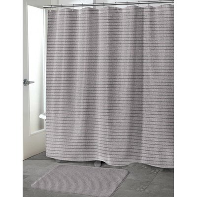 Heider Shower Curtain Color: Purple, Size: 70 H x 90 W