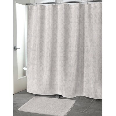 Ebert Shower Curtain Color: Peach, Size: 70 H x 72 W