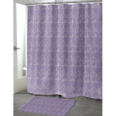 Ebert Shower Curtain Color: Purple, Size: 70 H x 90 W