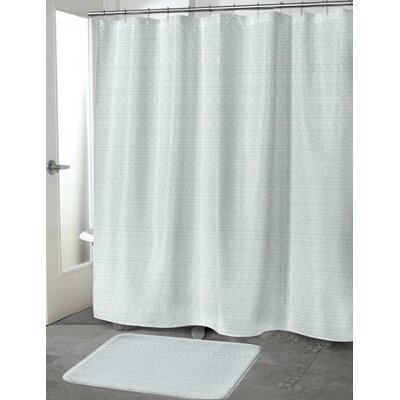 Lowenthal Shower Curtain Color: Green, Size: 70 H x 72 W