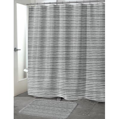 Evins Shower Curtain Color: Gray, Size: 70 H x 72 W