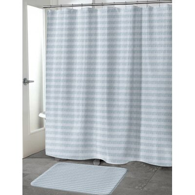 Heidelberg Shower Curtain Color: Blue, Size: 70 H x 72 W