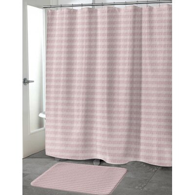 Heidelberg Shower Curtain Color: Pink, Size: 70 H x 90 W