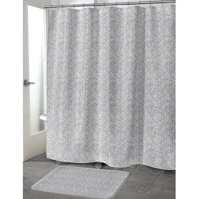 Decarlo Shower Curtain Color: Gray, Size: 70 H x 90 W