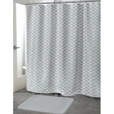 Heideman Shower Curtain Color: Blue, Size: 70 H x 72 W