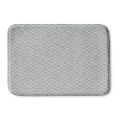 Maziarz Memory Foam Bath Rug Size: 24 L x 17 W, Color: Gray