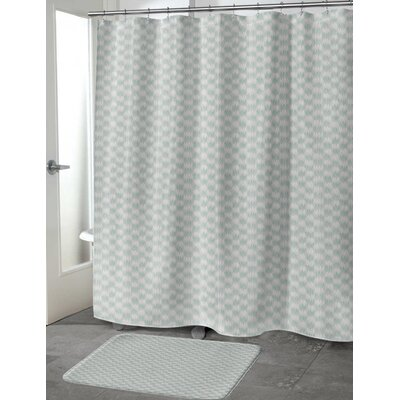 Heideman Shower Curtain Color: Green, Size: 70 H x 72 W