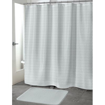 Lauritzen Shower Curtain Color: Mint/Gray, Size: 70 H x 90 W