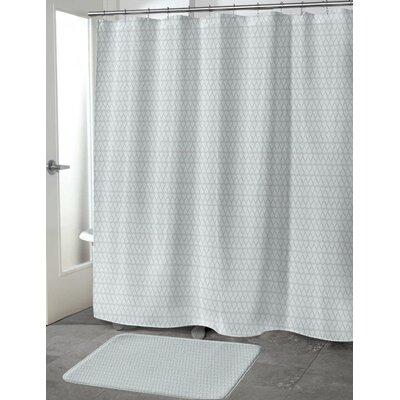 Lauritzen Shower Curtain Color: Mint/Gray, Size: 70 H x 72 W