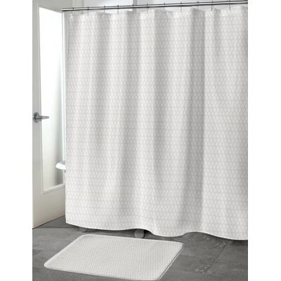 Lauritzen Shower Curtain Color: Tan, Size: 70 H x 90 W