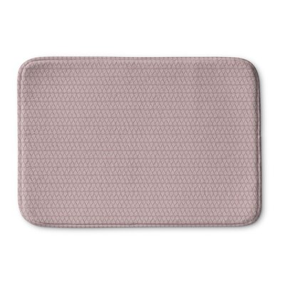 Clapton Memory Foam Bath Rug Size: 24 L x 17 W, Color: Pink